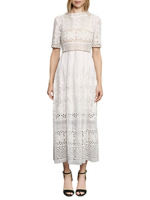 French Connection Hesse Broderie Maxi Dress