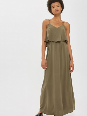 Frill Maxi Dress By Oh My Love