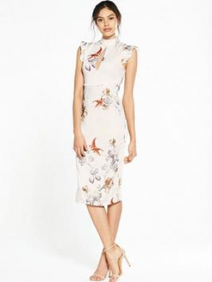 HOPE IVY Floral Bodycon Dress