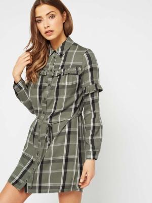 Miss Selfridge Check Shirt Dress