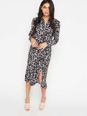 Miss Selfridge Floral Midi Shirt Dress