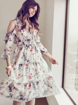Miss Selfridge Floral Tiered Dress