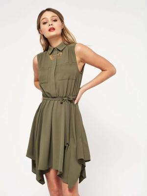Miss Selfridge PETITE Hanky Hem Shirt Dress
