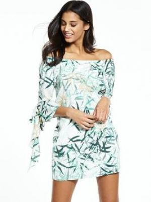 NEON ROSE Waterfall Bardot Dress