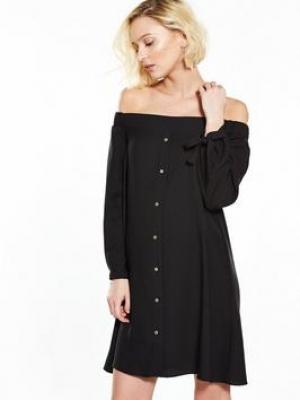 River Island Black Bardot Dress