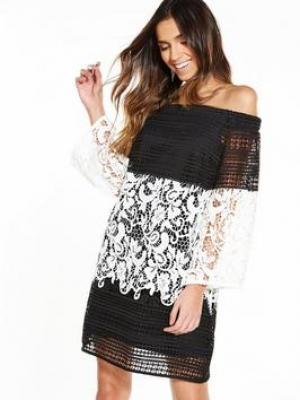 River Island Striped Bardot Dress