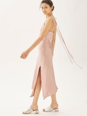 Topshop Asymmetric Hem Slip Dress