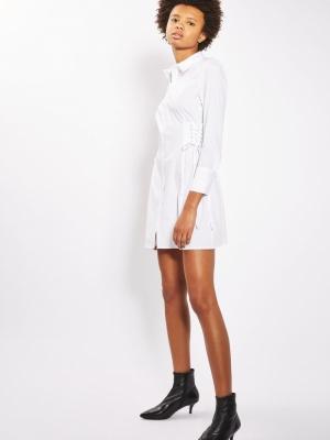 Topshop Corset Side Shirt Dress