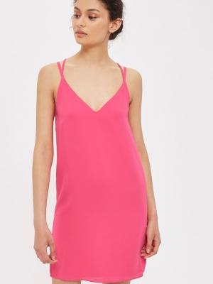 Topshop Cross Strap Slip Dress