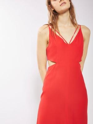 Topshop Cut Out Midi Slip Dress 1