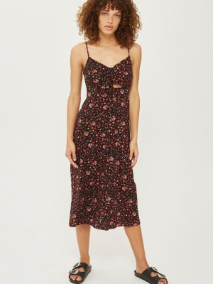 Topshop DITSY Knot Tie Front Dress