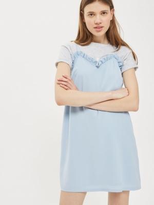 Topshop Frill Slip Dress