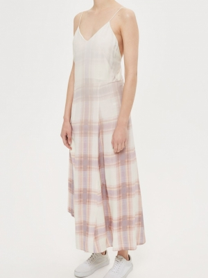 Topshop Graduated Check Slip By Boutique