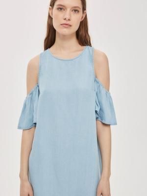 Topshop MOTO Soft Cold Shoulder Dress
