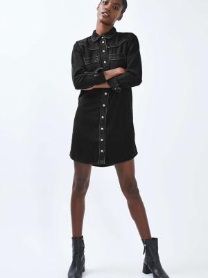Topshop MOTO Western Shirt Dress