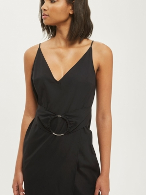 Topshop O Ring Poplin Slip Dress