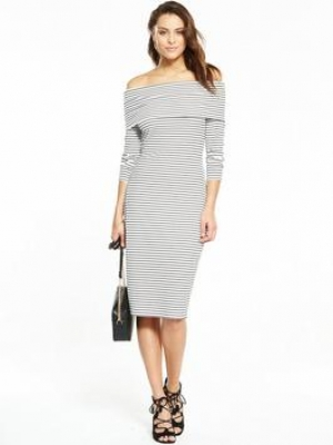 V By Very Bardot Stripe Midi Dress