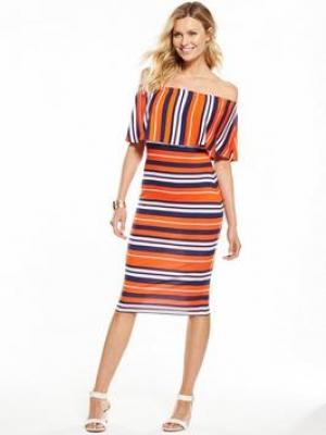 V By Very Off The Shoulder Midi Dress
