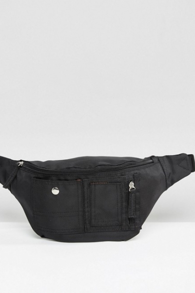 ASOS Bum Bag In Black With Bomber Stylin