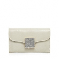 J By Jasper Conran Grey Leather Flap Over Purse