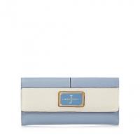J By Jasper Conran Light Blue Colour Block Enamel Plate Large Flapover Purse