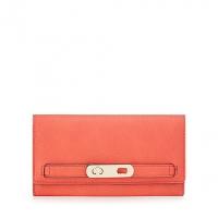 J By Jasper Conran Red Twist Lock Flapover Wallet