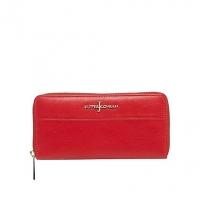 J By Jasper Conran Red Zip Around Leather Wallet