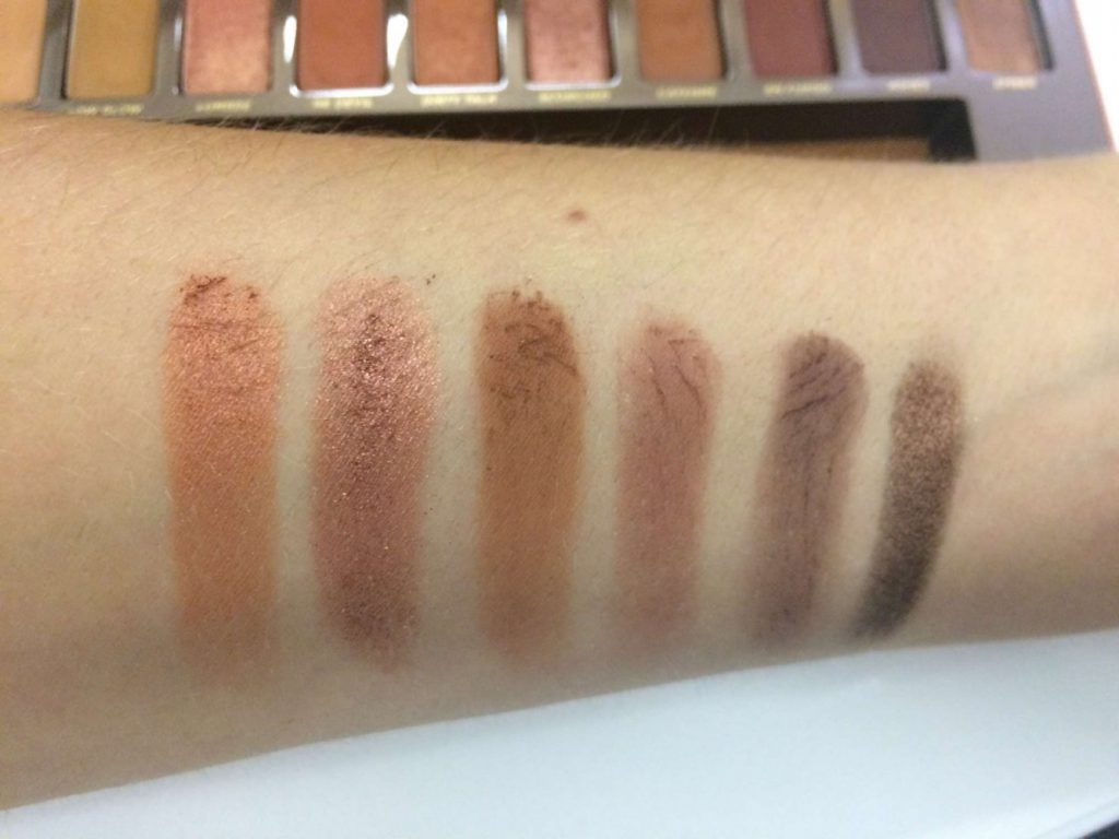 Urban Decay Naked Heat Palette Swatches TheFuss.co.uk