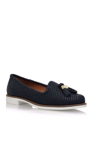 Carvela Blue 'Match' Flat Slip On Loafers