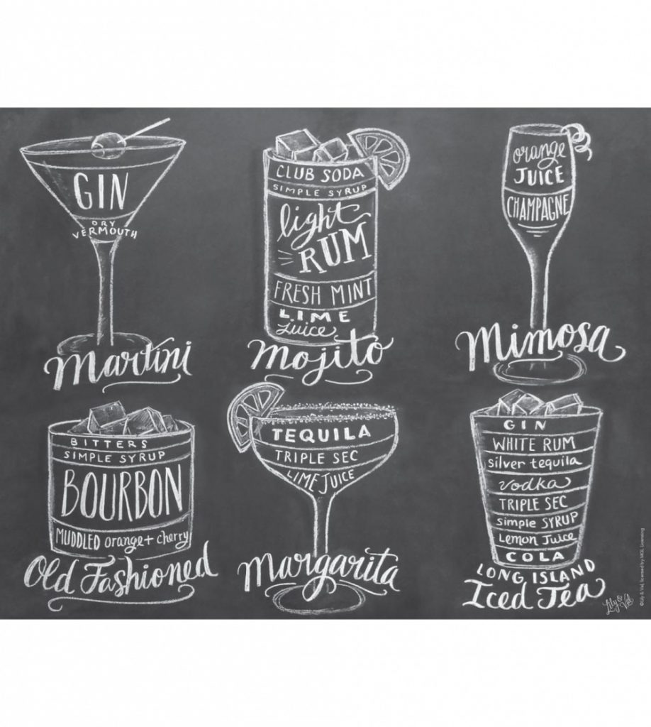 Cocktail Chalkboard Print