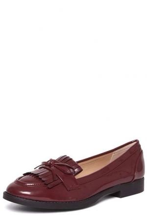 Dorothy Perkins Burgundy 'lotty' Fringe Loafers