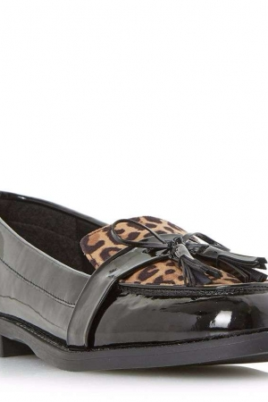 Head Over Heels By Dune Multicoloured 'Gerrie' Tassel Strap Loafers