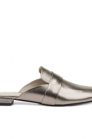 Hobbs Metallic 'Sienna Backless' Loafers