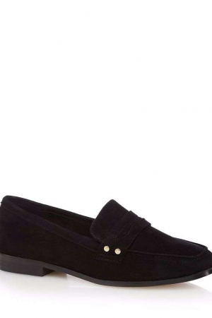 J By Jasper Conran Black Suede Loafers