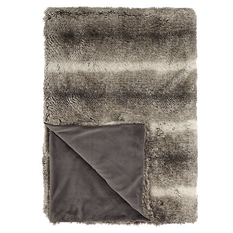 John Lewis Faux Fur Throw
