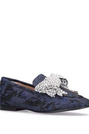 KG Kurt Geiger Blue 'Khloe' Flat Loafers