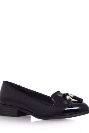 Miss KG Black 'Knight' Low Heel Tassel Loafer