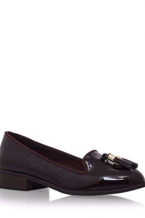 Miss KG Wine 'Knight' Low Heel Slip On Loafer Shoe