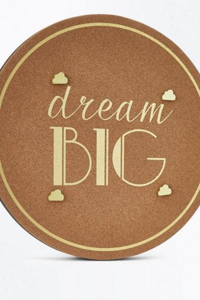 New Look Brown Cork Metallic Dream Big Pin Board