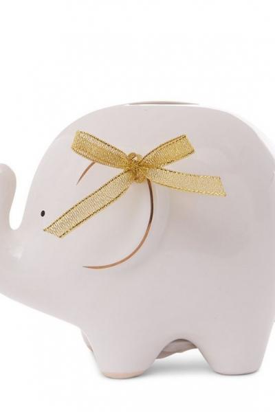 New Look White Elephant Money Box