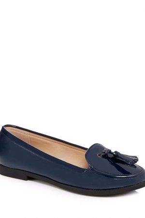 The Collection Navy 'Caleb' Patent Loafers