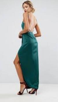 ASOS Drape Front Delicate Back Maxi Dress