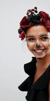 ASOS Halloween Dark Floral Garland Headband
