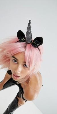 ASOS Halloween Dark Unicorn Headband