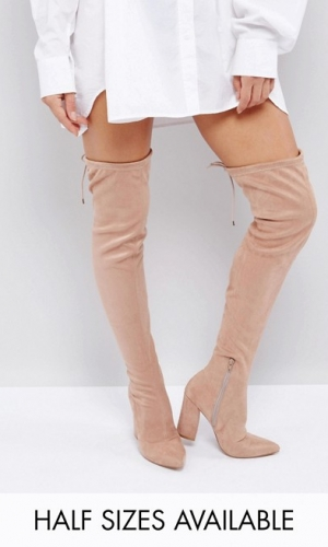 ASOS KARMA Pointy Over The Knee Boots