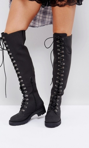 ASOS KLEO Hiker Over The Knee Boots