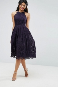 ASOS Lace Scallop Midi Dress