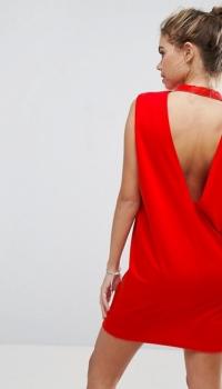 ASOS Sleeveless T Shirt Dress With V Back