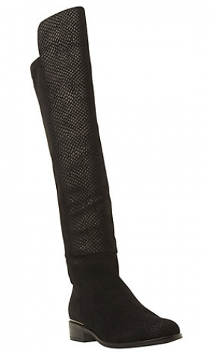 Dune Trish Luxe Reptile Effect Over Knee Boot