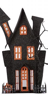 John Lewis Halloween Metal House Tealight Holder